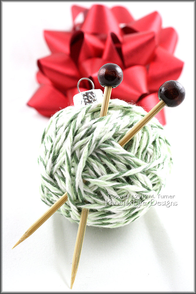 Put a little handmade whimsy in your Christmas Tree decorations and holiday decor with this adorable little miniature yarn ball ornament! A perfect gift for knitters and people who crochet and a cute way to celebrate your love of handmade!