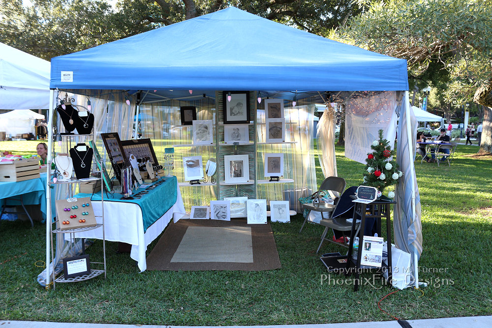Phoenixfire designs craft show tent display photos from for Display tents for craft fairs