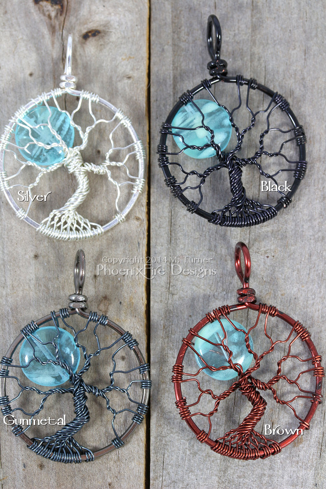 glow in the dark full moon tree of life pendants PhoenixFire Designs