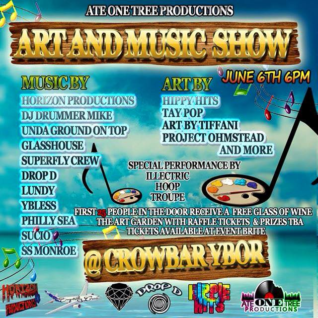PhoenixFire Designs will be a vendor at the Art and Music Show at Crowbar in Ybor, Saturday June 6, 2016 @ 6pm. With tons of local live musicians and excellent artisan vendors, it's a great night out!