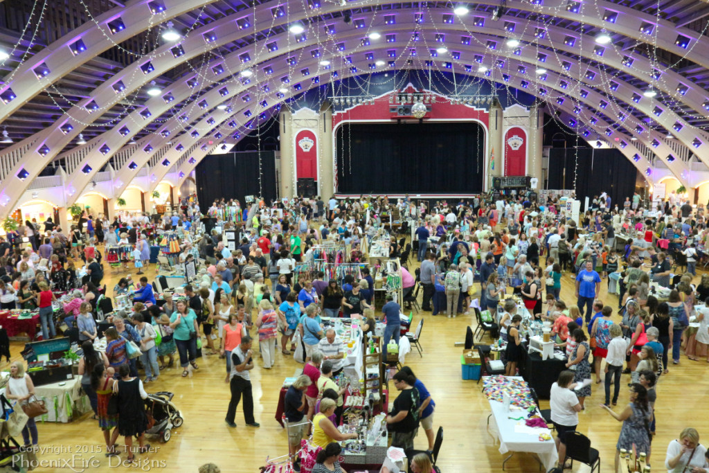 Huge turnout in the beautiful historic ballroom of the St. Petersburg Coliseum for the Etsy Craft Party June 5, 2015