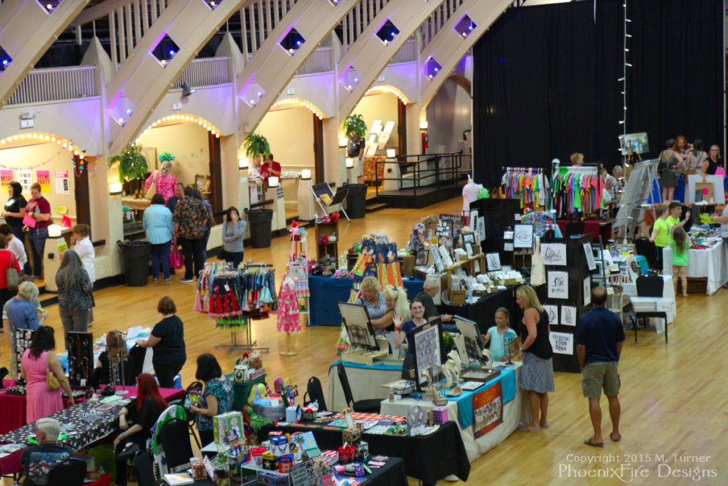 You can see me waving as I'm standing behind the PhoenixFire Designs display booth table during the Etsy Craft Party June 5, 2015 at the St. Petersburg Coliseum.