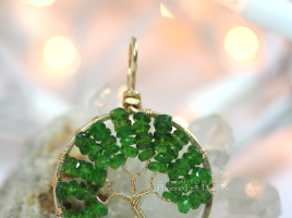 Give her a festive and beautiful piece of handcrafted jewelry this holiday season. PhoenixFire Designs 14kgf Chrome Diopside tree is luxurious and uniquely beautiful. A true one of a kind for your one of a kind love.