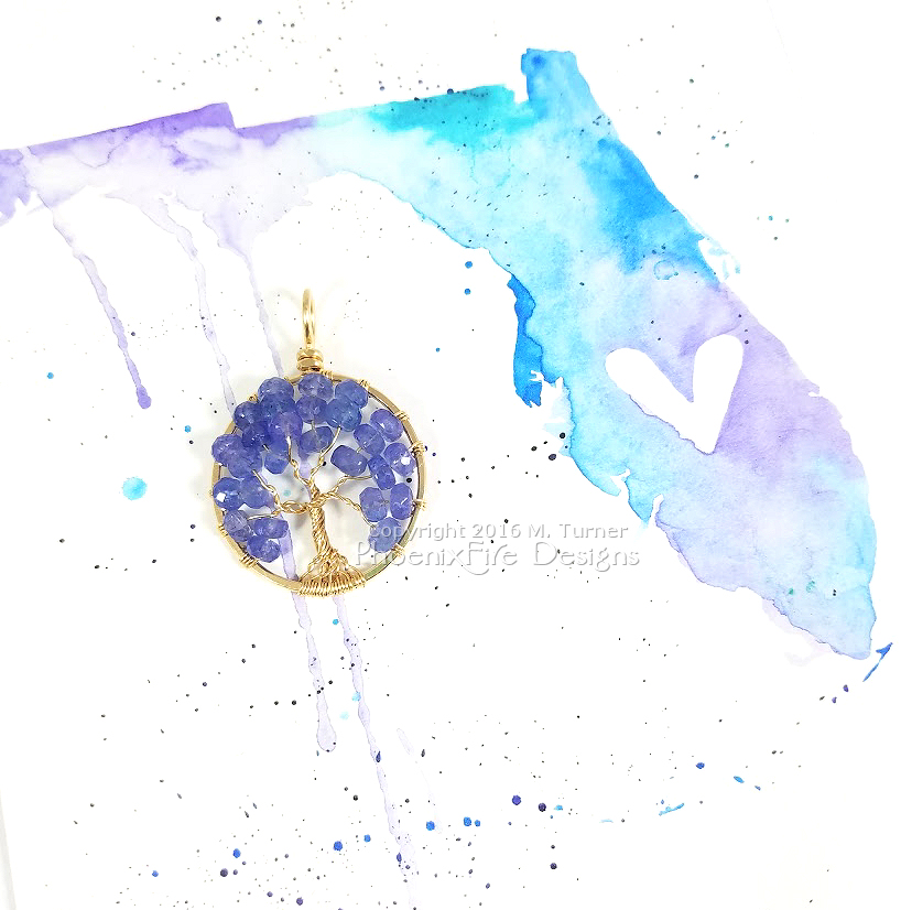 Found exclusively in Tanzania at the foothills of Mount Kilimanjaro, Tanzanite was discovered by Tiffany & Co in the 1960s. This gorgeous 14k gf tree of life pendant was handmade by me in my Tampa, Florida studio, it's OOAK and ready to ship in the PhoenixFire Designs etsy shop!