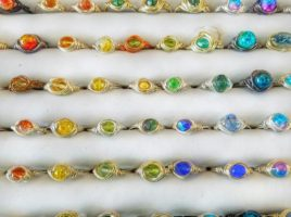 Show exclusive! My handmade wire wrapped rings are only $10 and each is unique with a variety of rainbow colors to chose from! Follow PhoenixFire Designs for our show schedule!