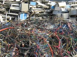Electronic products are jam-packed with heavy metals, semi-metals and various chemical compounds that can leak into soil and become hazardous. Things like lead, mercury, copper, barium, nickel and even arsenic are all present within a variety of electronic products.