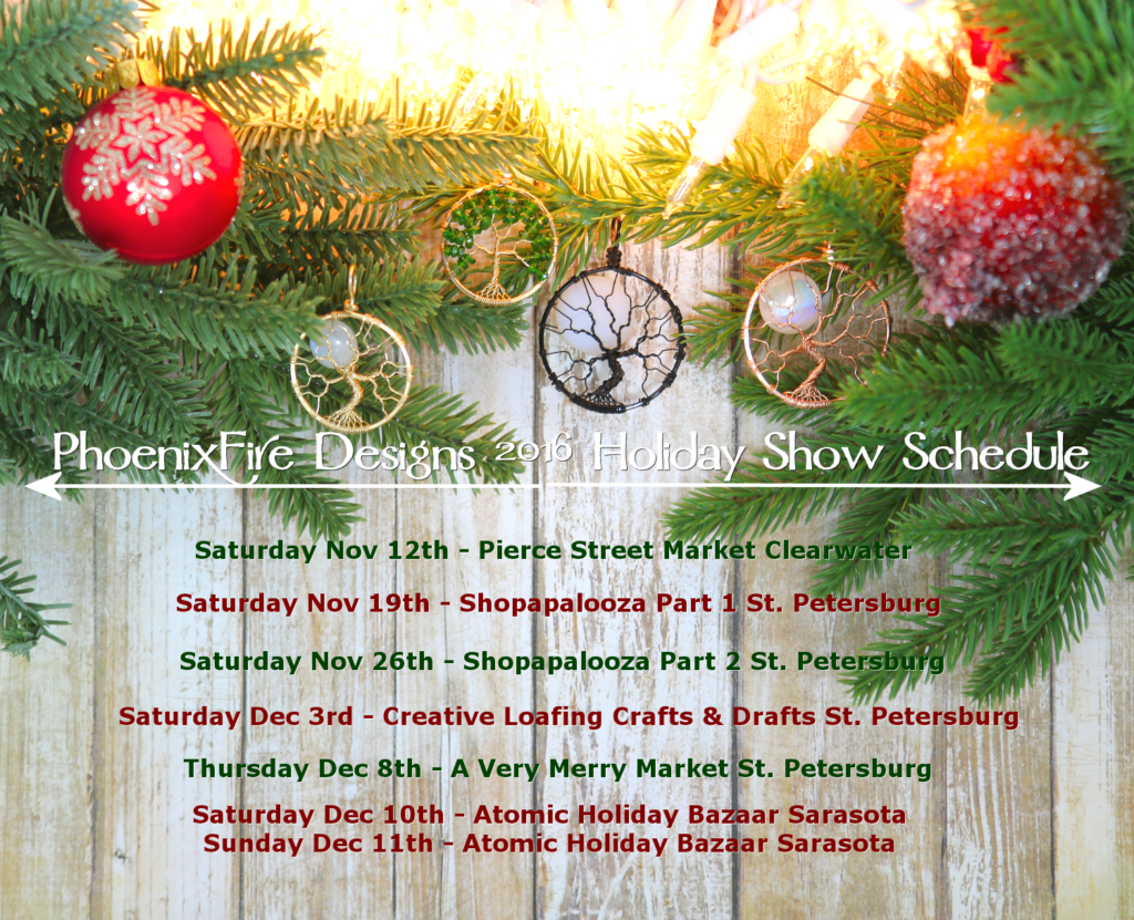 Oh the places we'll be this holiday season! Shop our wide selection of handmade jewelry as well as unique, seasonal favorites to get something special for everyone on your Christmas list! Shop small this year and support a handmade holiday!