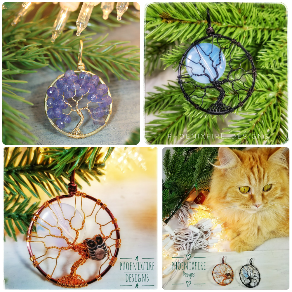 Last chance to order handmade, wire wrapped jewelry, tree of life ...