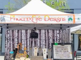 PhoenixFire Designs at Hyde Park Village Market 1st Sunday of each month