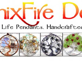 Handcrafted, handmade wire wrapped gemstone jewelry including world-famous Tree of Life Pendants made from scratch by Miss M. Turner of PhoenixFire Designs.