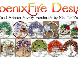 PhoenixFire Designs Original Artisan Gemstone Jewelry. Offering world-famous wire wrapped Tree of Life Gemstone Pendants, original unique Tree Jewelry, handmade Birthstone Jewelry, Mother's Jewelry, Bird Nest Necklaces, Steampunk jewellry, Bride, Bridal and Formal items and More! Custom Orders always accepted.