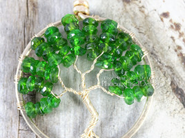 14k gf Chrome Diopside Tree of Life Pendant by PhoenixFire Designs on Etsy