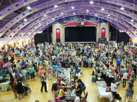 Huge turnout in the beautiful historic ballroom of the St. Petersburg Coliseum for the Etsy Craft Party June 5, 2015 Phoenix Fire Designs, TBEC Tampa Bay Etsy Crew