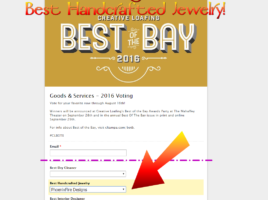 Vote PhoenixFire Designs for Best Handcrafted Jewelry in Creative Loafing's Best of the Bay contest! Support our 100% local, 100% handmade from scratch business right here in Tampa. Celebrating 10 years on etsy!